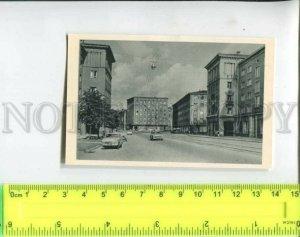 433567 USSR 1963 year ESTONIA Tallinn Narva highway cars miniature card