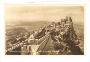 Repubblica di S. Marino - Panorama Generale Della Citta, 1910s