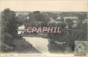 Old Postcard Niort-view Sevre Dungeon decision