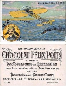 Chocolat Felix Potin Approx Size Inches = 2.75 x 4.25 Trade Card Unused