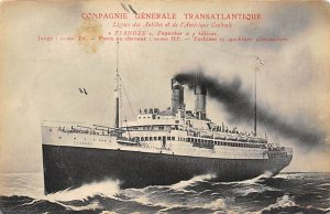 Flandre Compagnie Generale Transatlantique Ship Unused