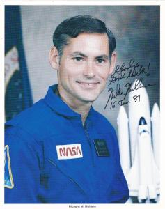 Space Shuttle Astronaut Richard M Mullane , Autographed 1981