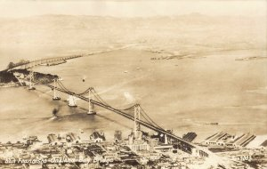 San Francisco Oakland Bay Bridge EKC rppc postcard AO190