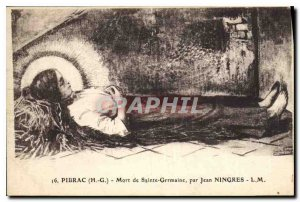 Postcard Old Pibrac Death of St. Germaine Jean Ningres