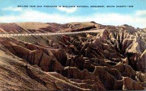 South Dakota Badlands National Monument Million Year Old Pinnacles 1949