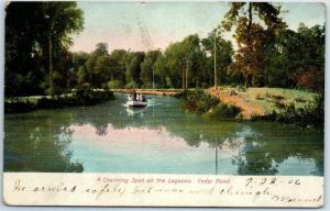 Sandusky, Ohio Postcard A Charming Spot on the Lagoons, Cedar Point 1906