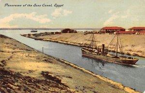 Panorama Suez Canal Egypt, Egypte, Africa Unused