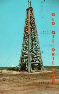Vintage Postcard Old Oil Industry Cable Drilling Evolution Methods Circa About