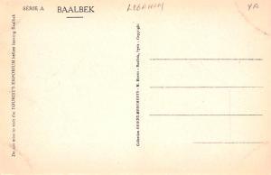 Baalbek, Lebanon Postcard, Carte Postale Debris du Temple de Jupiter Baalbek ...