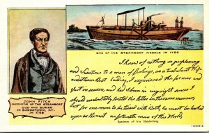 Kentucky Bardstown John Fitch Inventor Of The Steamboat Curteich