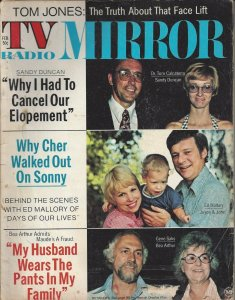 TV Radio MIRROR February 1973 Vintage Magazine - Tom Jones, Sonny and Cher