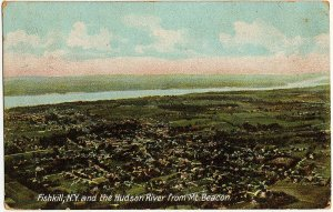 1908 Fishkill NY New York Bird's Eye Hudson River from Mount Mt. Beacon Postcard