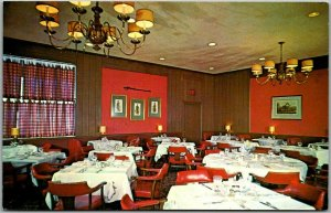 Atlanta, Georgia Postcard YOHANNAN'S RESTAURANT Interior View Dated 1962