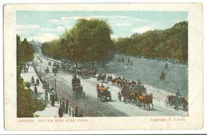 London, Rotten Row Hyde Park, 1907 used Postcard