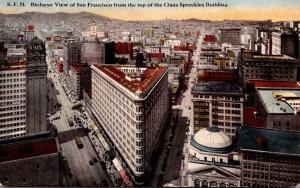 California San Francisco Birds Eye View From Top Of Claus Spreckles Building
