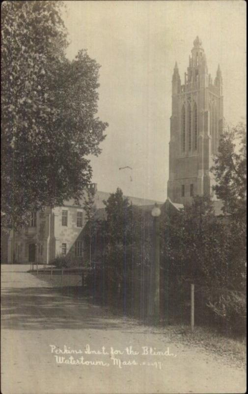Watertown MA Perkins Institure For the Blind c1910 Real