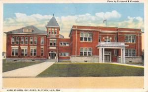 Blytheville Arkansas~High School Building~Paarkhurst & Crockett~1916 Postcard