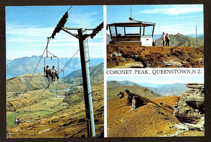 NEW ZEALAND POSTCARD CORONET PEAK,QUEENSTOWN