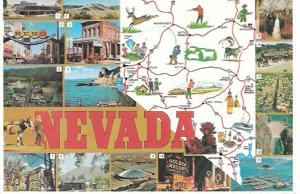 Greetings From Nevada.  Unused.  Busy card - fun.