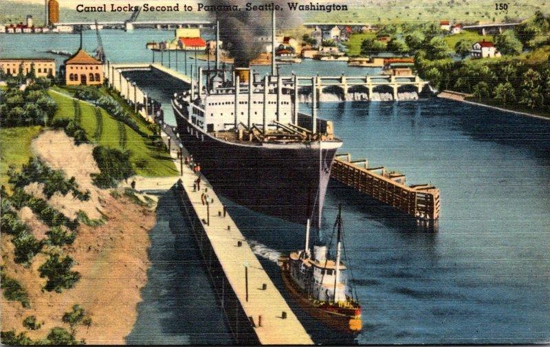 Washington Seattle Canal Locks Second To Panama