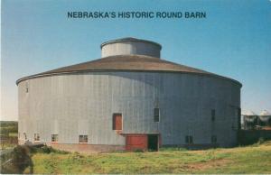 Nebraska's Historic Round Barn on Percy Rasser Farm Postcard