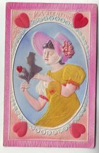 PC18 JLs postcard beautiful colors pinks yellow valentines