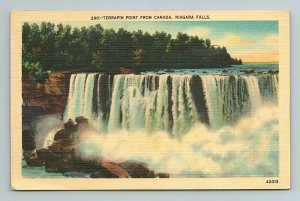 Terrapin Point from Canada Niagara Falls New York NY Postcard