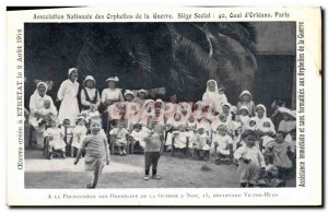 Postcard Old Colony Children & # 39Etretat Nursery Orphans of war in Nice