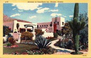 Arizona Phoenix Entrance To Camelback Inn Curteich