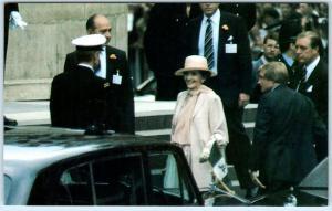 NANCY REAGAN at Royal Wedding PRINCE CHARLES & PRINCESS DIANA 1981  Postcard