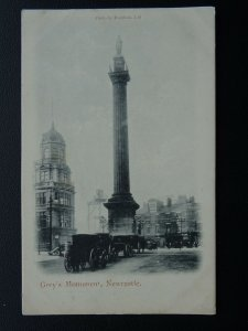 Newcastle GREY'S MONUMENT shows CONSTRUCTION OF EMERSON CHAMBERS c1903 Postcard