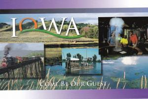 Iowa Greetings Showing Boone & Scenic Valley Railroad & More