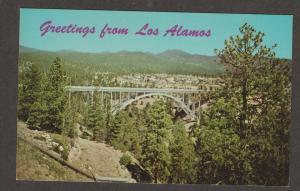 Bridge Postcard Los Alamos New Mexico Scenic Unused