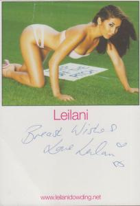 Leilani Dowding Sexy Model Official Hand Signed Photo
