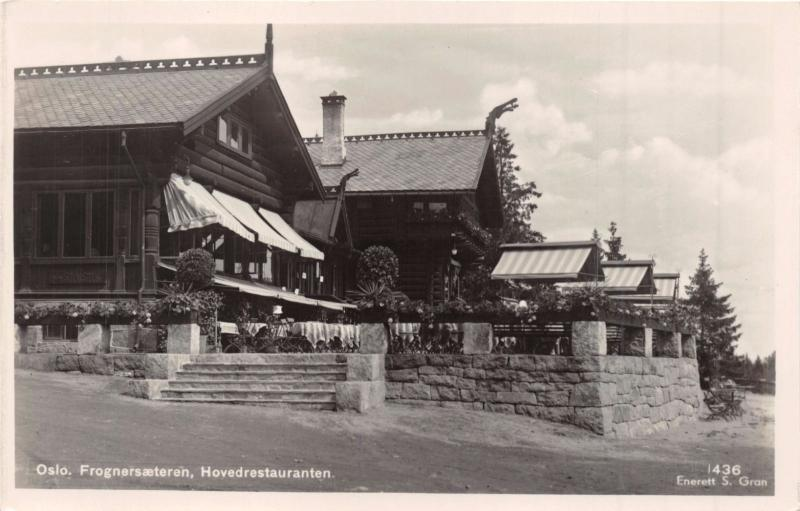 FROGNERSÆTEREN NORWAY NORGE~HOVEDRESTAURANTEN~S GRAN PHOTO POSTCARD 1910s
