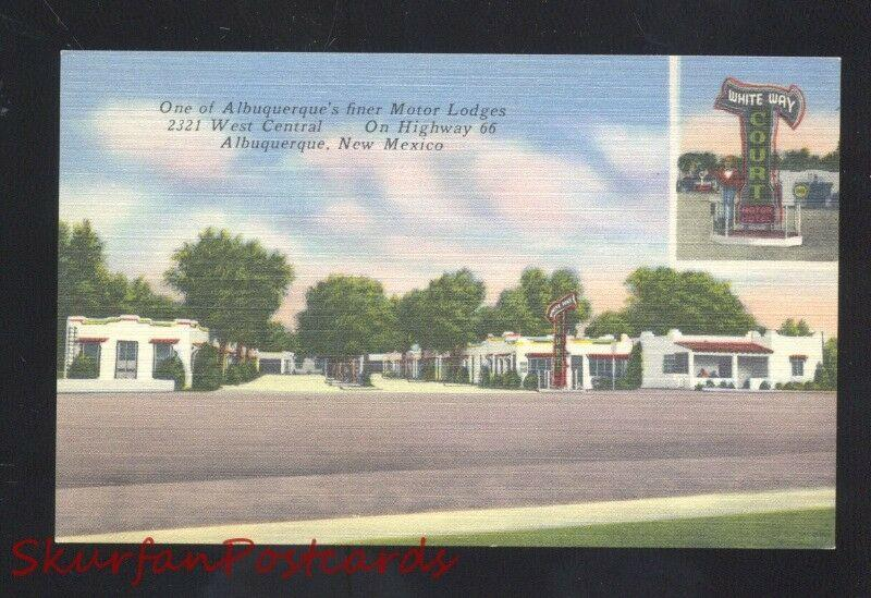 ALBUQUERQUE NEW MEXICO ROUTE 66 ROADSIDE MOTEL LINEN ADVERTISING POSTCARD NM