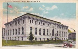 New Hampshire Manchester Carpenter Memorial Libersity 1926