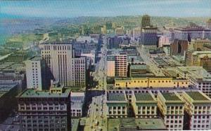 Looking North From Smith Observation Tower Seattle Washington 1959
