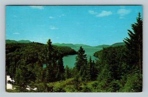 Adirondack Mountains NY, Indian Lake, New York Chrome c1969 Postcard