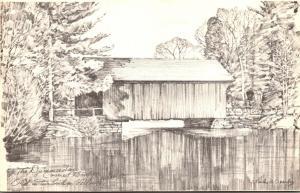 Vermont Dummerston Covered Bridge Over Taft River