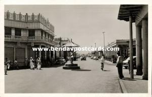 kuwait, New Street, Police Traffic Officer, Cars (1950s) RPPC