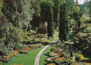 Canada The Sunken Garden The Butchart Gardens Victoria British Columbia