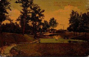 Connecticut Meriden Hubbard Park Lake At Children's Playground 1911