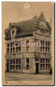 Old Postcard Belgium Tournai Tournai House 17th