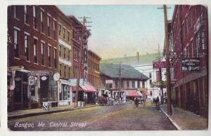 P754 old horse & wagons strore signs etc central street bangor maine
