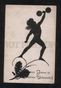 068351 Strong ELF as WRESTLER by DIEFENBACH Silhouette Vintage