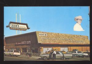 ST. GEORGE UTAH DICK'S CAFÉ RESTAURANT 1960's CARS VINTAGE POSTCARD