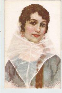 Lady from Baleares (Mallorquina) Nice vintage Spanish postcard