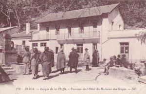 BLIDA, Algeria, 1900-1910's; Gorges De La Chiffa, Terrasse De L'Hotel Du Ruis...