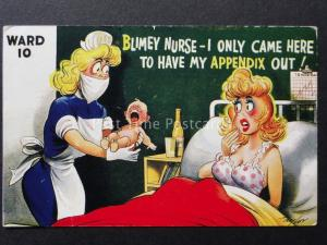 Bamforth & Co: Taylor BLIMEY NURSE - I ONLY CAME HERE TO HAVE MY APPENDIX OUT!